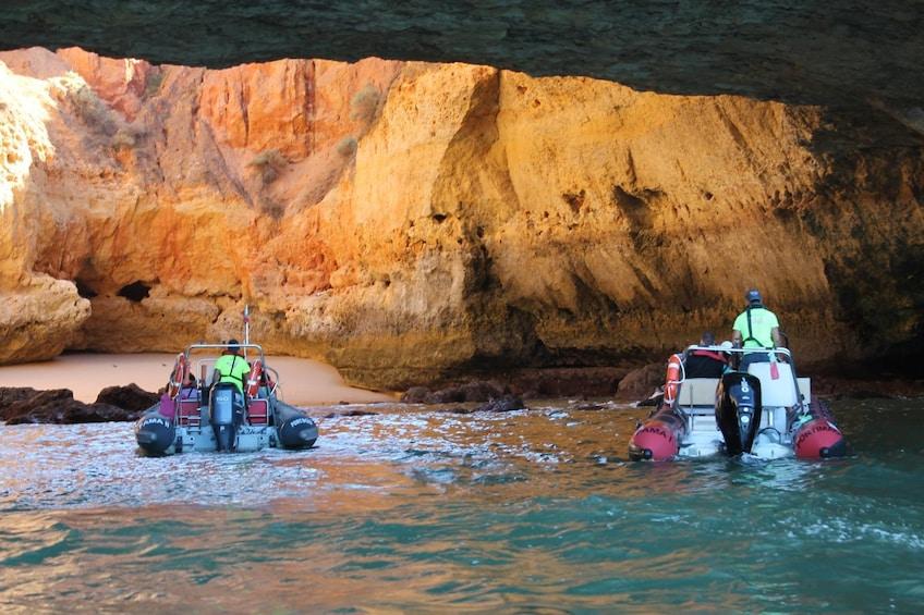 Show item 3 of 9. Benagil caves 2 hours