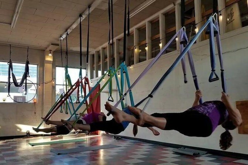Show item 1 of 6. Yoga Trapeze Aerial Yoga class at Gravity Yoga