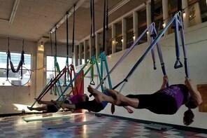Yoga Trapeze Aerial Yoga class at Gravity Yoga