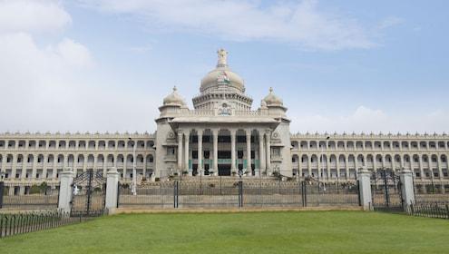 Facade of a government building, Vidhana Soudha, Bangalore, Karnataka, India.jpg