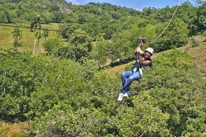 Zip lines and Monkeyland from Puerto Plata