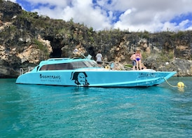 Power Catamaran Circumnavigation & Snorkelling adventure