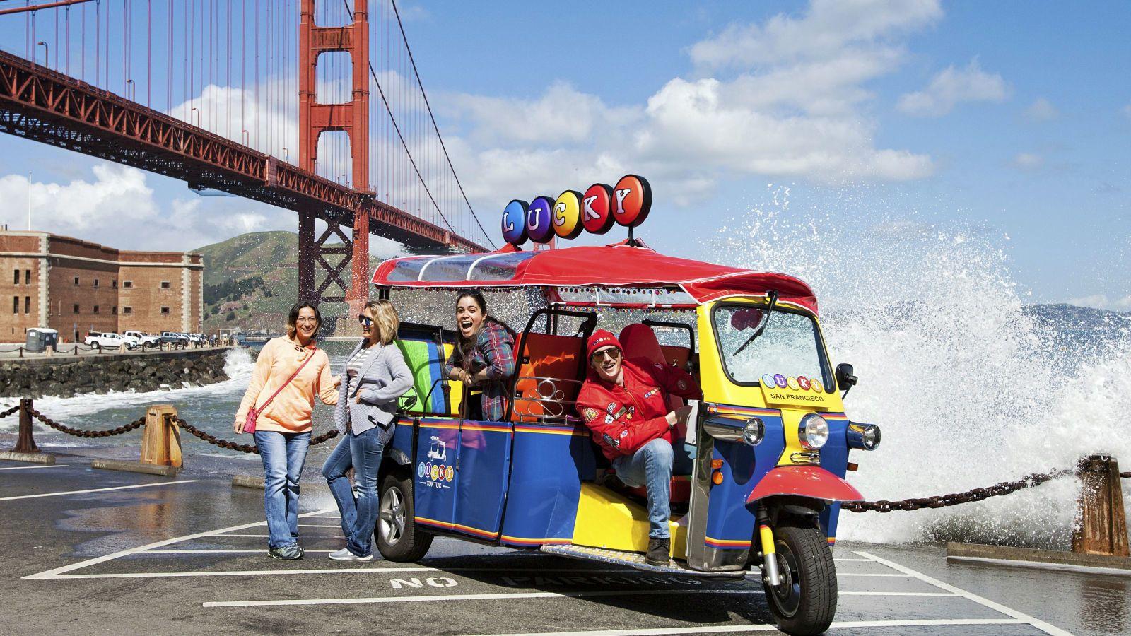 Ultimate Lucky Tuk Tuk San Francisco City Tour - 2.5 hours
