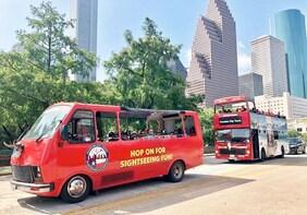 Houston City Hop On Hop Off Tour & Aquarium Day Pass