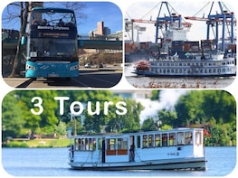 Complete Tour Package: City Tour, Harbour Cruise, Alster Tour