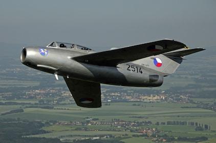 Historic Fighter Jet Flight near Prague, Czechia