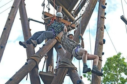 Challenge yourself on our aerial adventure course!