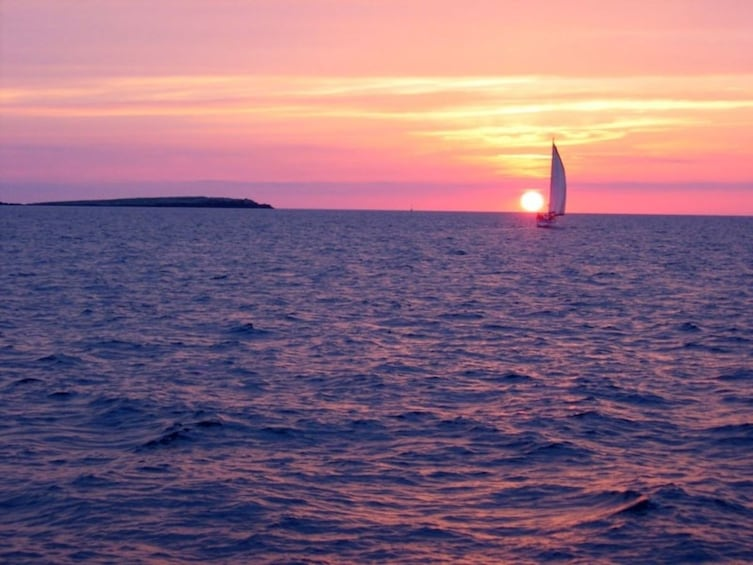 Show item 4 of 5. Sailing trip at sunset from Fornells