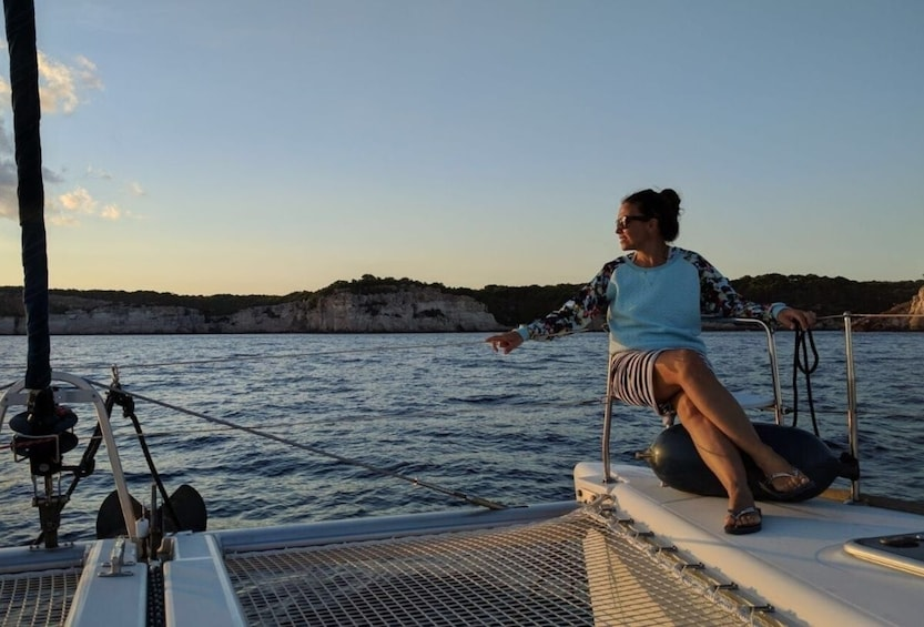 Show item 2 of 5. Sailing trip at sunset from Fornells
