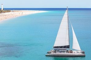 Day at Sea on a Sailing Catamaran with lunch and drinks