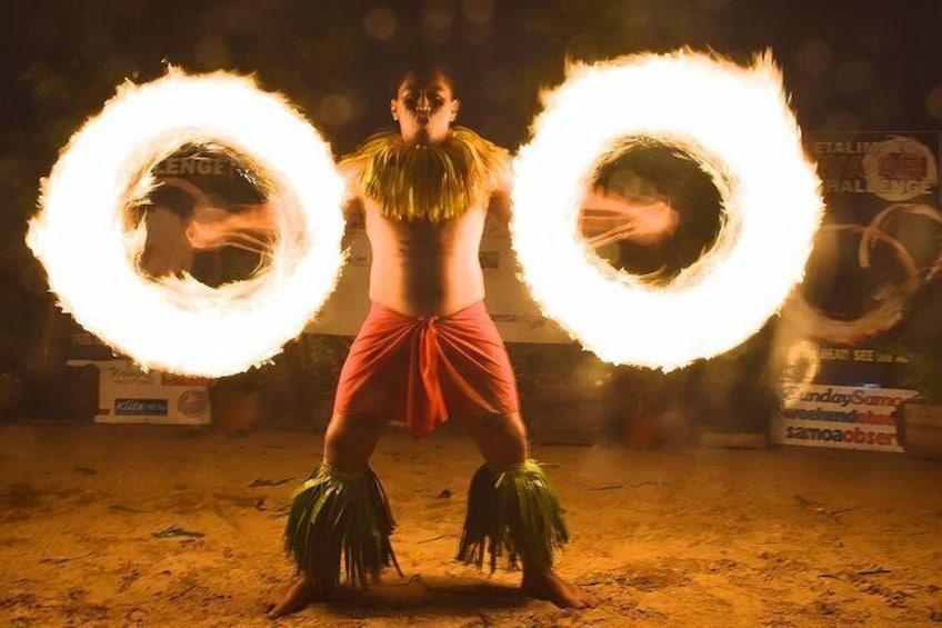 Show item 1 of 9. Siva Afi Cultural Show - Fire Knife Dancing, Traditional Siva and Dinner