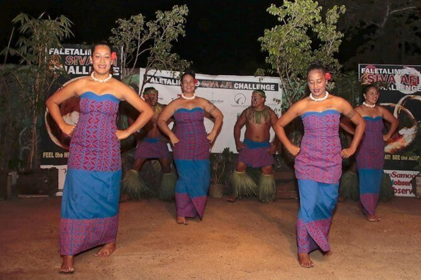 Show item 5 of 9. Siva Afi Cultural Show - Fire Knife Dancing, Traditional Siva and Dinner