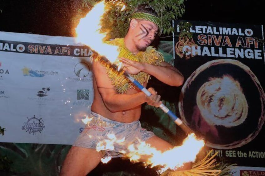 Show item 4 of 9. Siva Afi Cultural Show - Fire Knife Dancing, Traditional Siva and Dinner