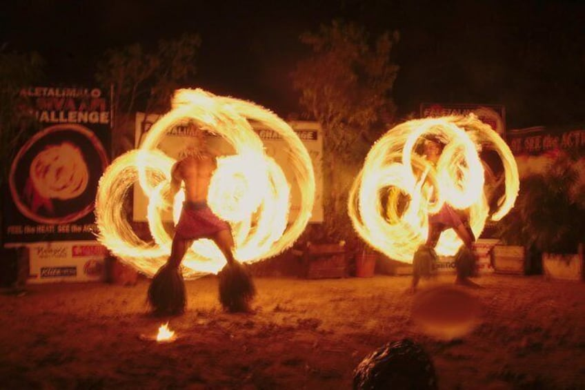 Show item 3 of 9. Siva Afi Cultural Show - Fire Knife Dancing, Traditional Siva and Dinner