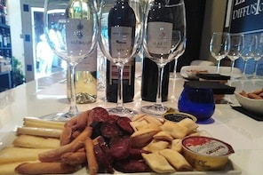 Three spanish wines and special hunting meat