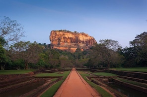 Sigiriya Rock and Countryside from Habarana