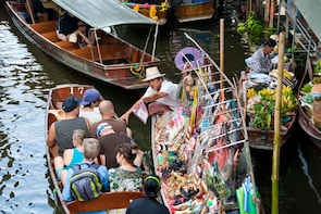 Private Train Market & Damnoen Saduak Floating Market Tour