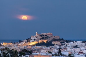 Ibiza at night with Old Town visit