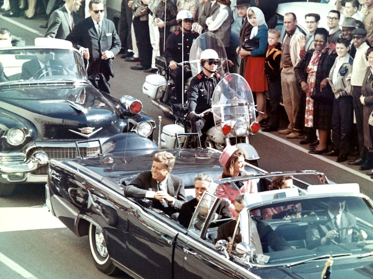 Show item 1 of 8. JFK_limousine before the tragedy