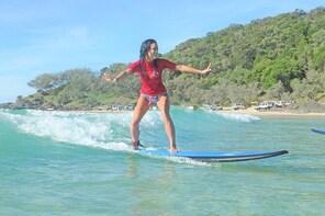 Rainbow Beach Surf Lesson Australia's Longest Wave 4X4 Adventure