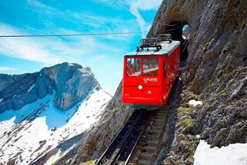 Show item 1 of 8. World's steepest cogwheel railway