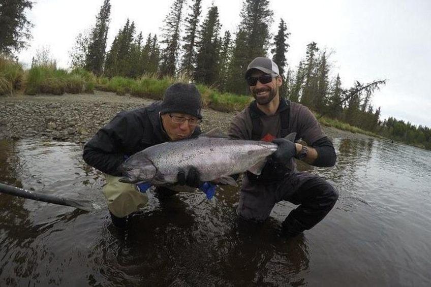 King Salmon fishing on the Kasilof River.