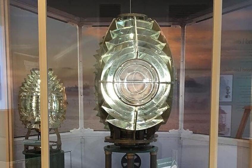 Fresnel lens at lighthouse museum