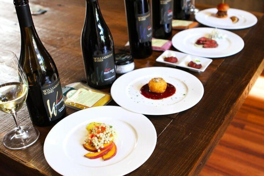 Fine wines paired with tapas-sized portions of food