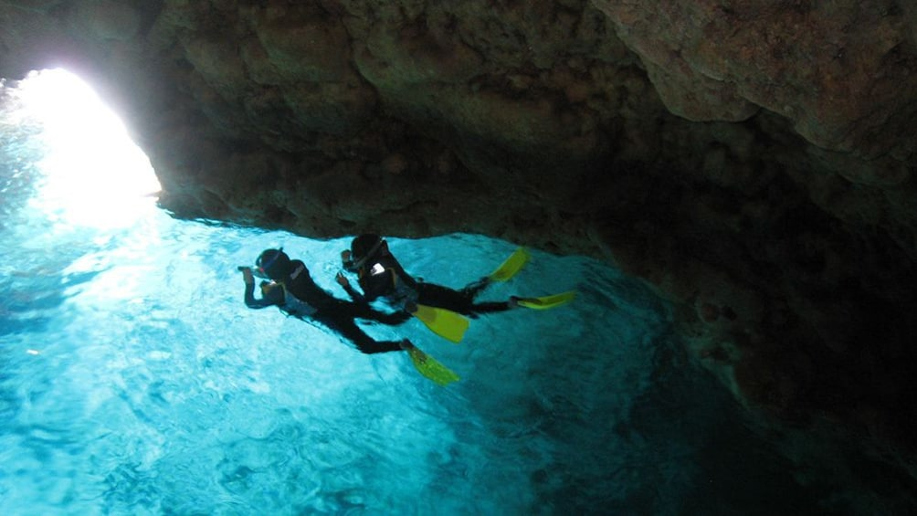 Show item 1 of 5. Okinawa Blue Cave Snorkeling Ticket