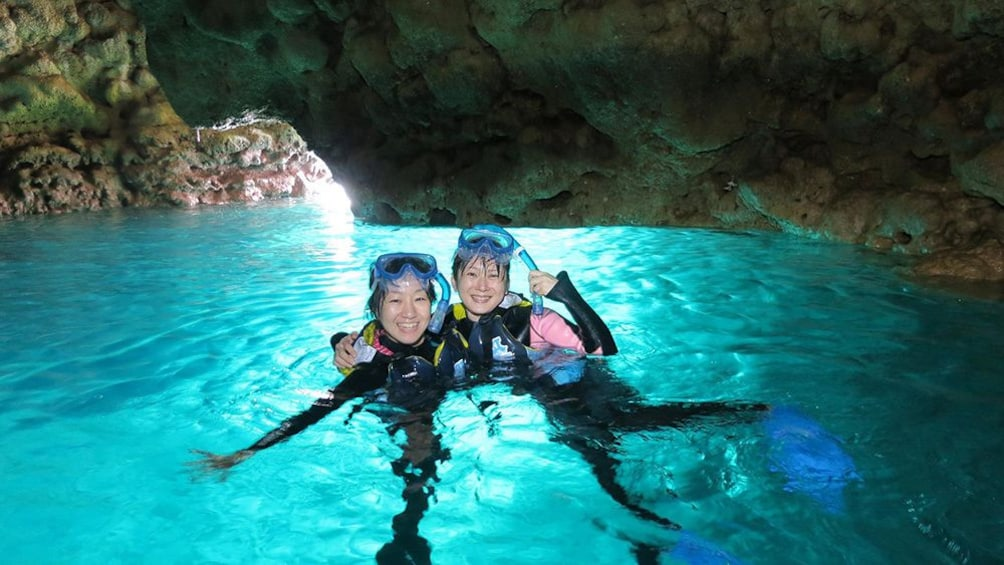 Show item 4 of 5. Okinawa Blue Cave Snorkeling Ticket