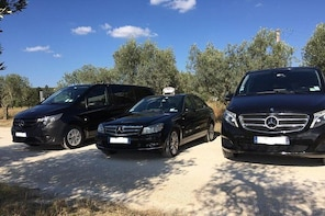 Transfer from Les Baux de Provence to Nice Airport