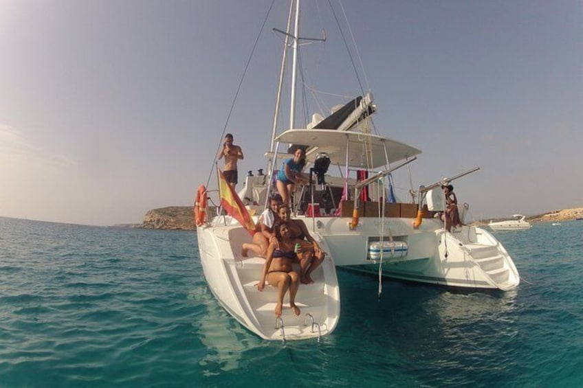 Show item 3 of 6. Cala Bassa Catamaran Excursion