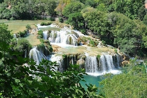From cruise boat to NP Krka waterfalls - Private tour
