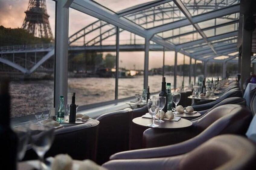 Show item 1 of 7. Bistro-Style Seine River Dinner Cruise on board PARIS EN SCENE