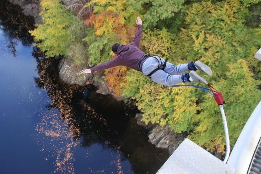 Bungee jump from 40 meters in the stunning valley of Killiecrankie