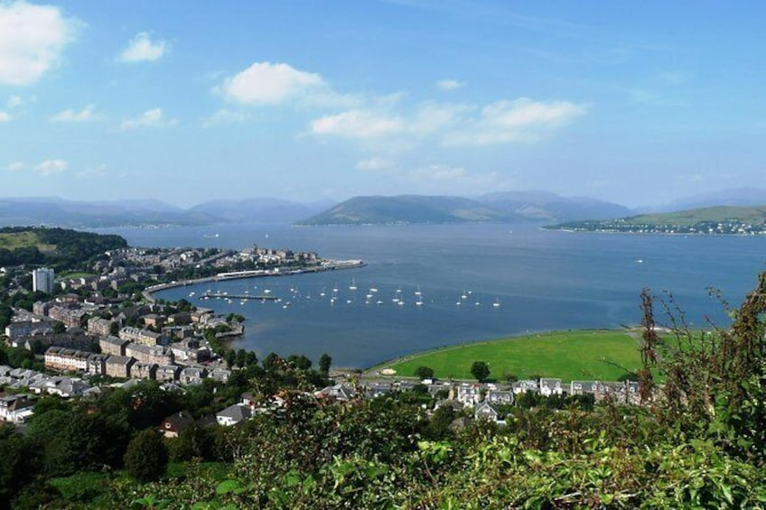 Clyde Coast Tours, see the stunning river Clyde and Argyll hills from Glasgow