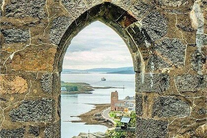 The view is worth the steep walk up to McCaig's tower