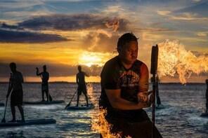 Fire on Water Night Paddling Tour in Rarotonga