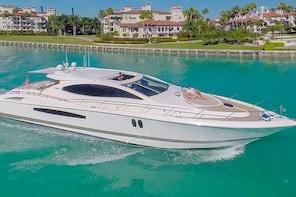 75' Lazzara LSX Boat Hire with Jet Ski in Miami