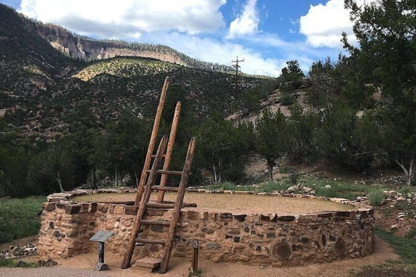 Show item 2 of 2. Visit the Kiva at Jemez Monument