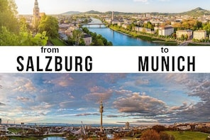 Private Transfer from Salzburg to Munich with 2 Sightseeing Stops