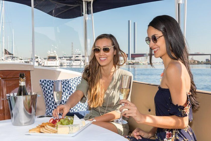 Yarra River wine and cheese cruise