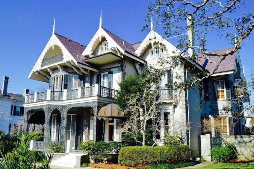 SWISS CHALET STYLE OF THEEUSTIS KOCH BRENNAN HOUSE, New Orleans home of Sandra Bullock