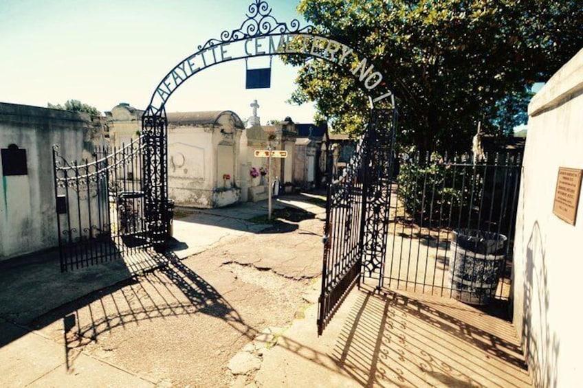 Lafayette Cemetery #1 gate