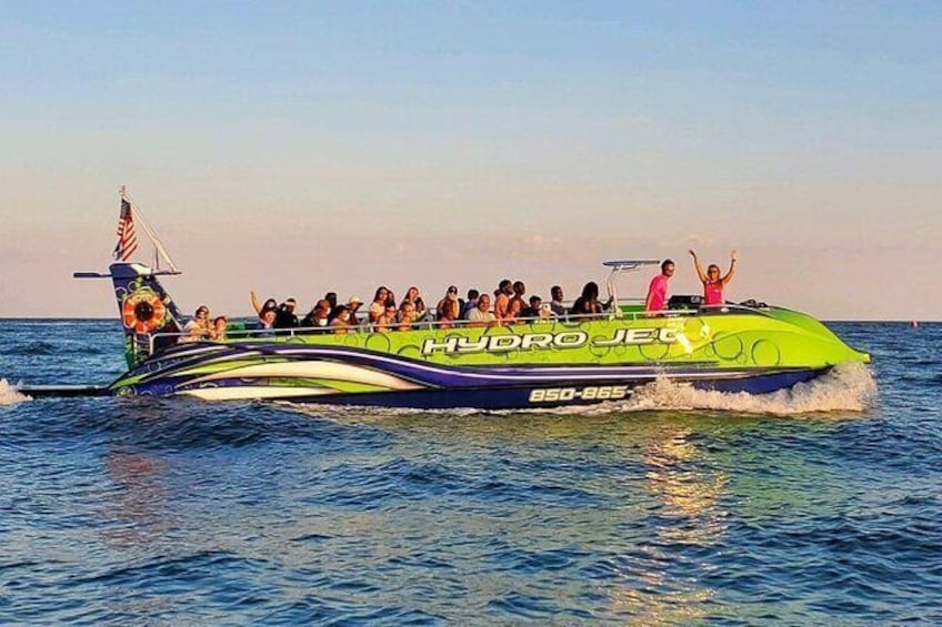 Show item 1 of 17. Large Jet Ski Boat Ride and Dolphin Watch in Destin