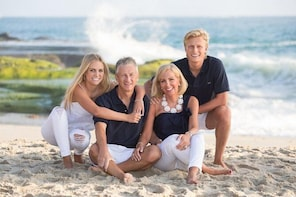 Fun Laguna Beach, CA family portrait Session