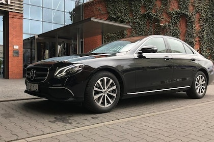 Our luxury Mercedes E-Class VIP waiting for passengers