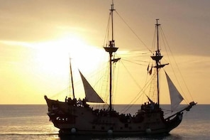 Jolly Roger Pirate Ship Sunset Cruise from Paphos