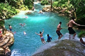 Dunn's River Falls & Blue Hole Combo Tour from Ocho Rios