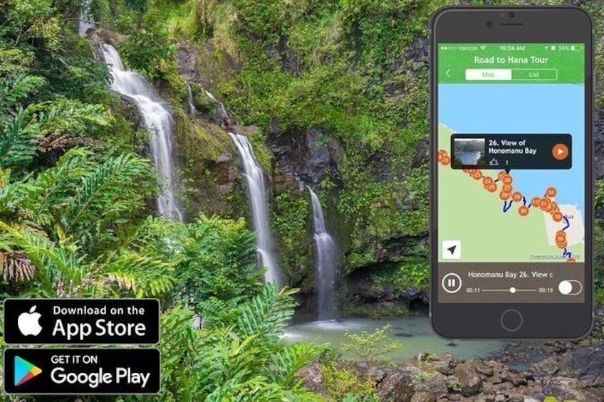 "Show item 1 of 10. Maui ""Loop"" Road To Hana Driving Tour App"